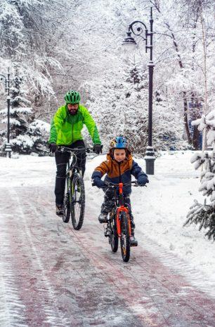 Wintertipps fürs Radfahren mit Kids