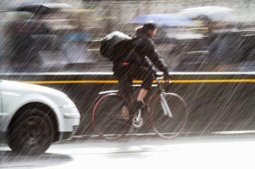 Fahrradfahren bei schlechten Wetter